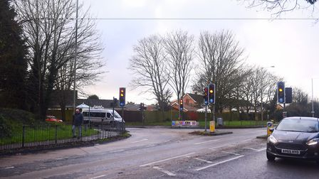 Police requested the car to stop near the junction of Main Road and Bell Lane in Kesgrave. Picture: