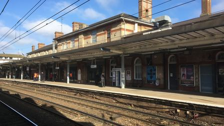 The trespass happened onto the line at Ipswich Station. File picture: PAUL GEATER