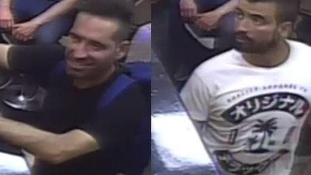Police would like to trace these men following a robbery in Ipswich. Picture: SUFFOLK POLICE