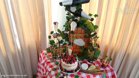 One of their cakes that pours Prosecco. Picture: ANGIE SCOTT CAKES