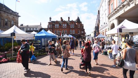 Ipswich Borough Council are discussing where to relocate the market during the Cornhill work through