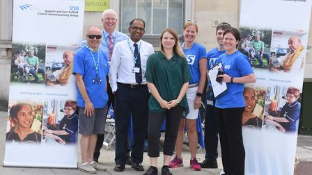 GPs and health staff on the streets of Ipswich as part of the annual Feet on the Street event. Pictu