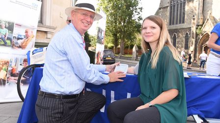 Dr John Hague takes reporter Gemma Mitchell's blood pressure. Picture: GREGG BROWN