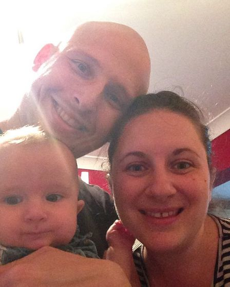 Mike and Fiona Ginn with their daughter Hope