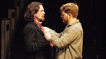 Thomas Haigh as Boldwood and Daffyd Westacott as Gabirel Oak in the Gallery Players production of Fa