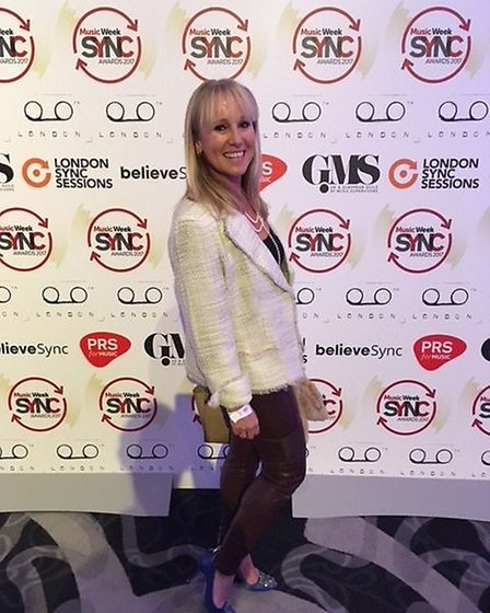 Fiona Jessica Wilson at the Music Week Sync Awards, in London, where she was a winner.