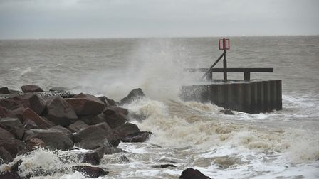 Stormy weather hits Ness Point, Lowestoft. Stock image. Picture: NICK BUTCHER