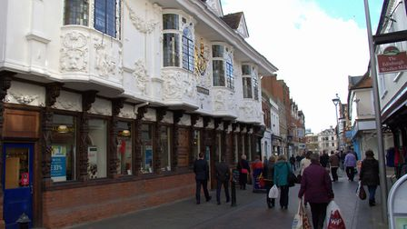 The Ancient House in Buttermarket. Picture: SIMON PARKER