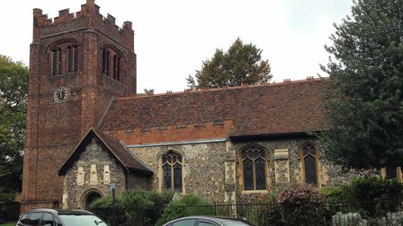 St Mary's at the Elm Church. The Tam statue is located right next to it. Picture: ARLEN JAMES