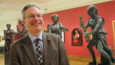 Philip Wise, of the Ipswich and Colchester Museum Service, who curated the Wolsey's Angels exhibitio