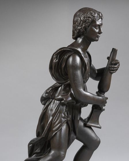 Bronze candle-bearing angel, about 1524-9, England, by Benedetto da Rovezzano (1474-1554). © Victori