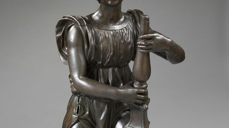 Bronze candle-bearing angel, about 1524-9, England, by Benedetto da Rovezzano (1474-1554). � Victori