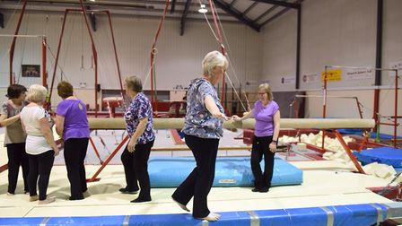 ActivIpswich Olympic Gymnastics for over 50s was launched earlier in the year. Picture: SARAH LUCY B