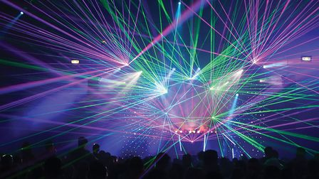 Watch the impressive laser show at Stonham Barns. Picture: ARCHANT