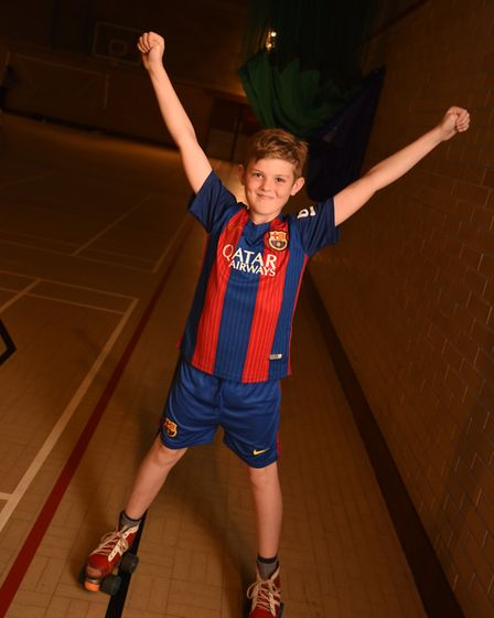 Roller skating at Gainsborough Sports Centre in Ipswich. Pictured is Rhys Marshall. Picture: ARCHANT