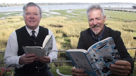 Griff Rhys Jones with Dan Houston at the We Didn't Mean to go to Sea reading marathon. Picture: NIGE