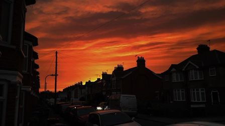 Ipswich Star readers showcase their photography skills during the red sun phenomenon. Picture: ADAM