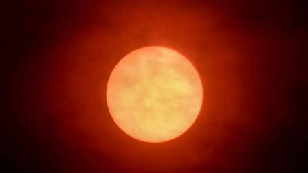 Carl Harlott took this stunning picture of the sun in Ipswich yesterday afternoon. Picture: CARL HAR