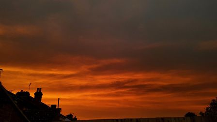 The red sun in Suffolk. Picture: SOPHIE JACKSON