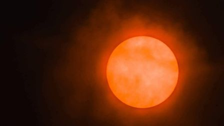 The redness in the sky was caused by dust being pulled up from southern Europe by Storm Ophelia, acc