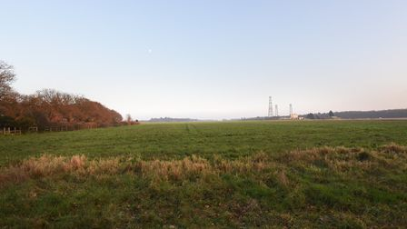 The land at Bell Lane, Kesgrave, where plans were submitted to build 300 homes. Picture: SARAH LUCY