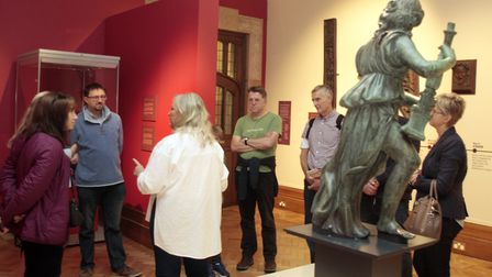 Visitors look around the Cardinal Wolsey exhibition. Picture: NIGE BROWN