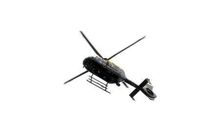 The police helicopter. Stock image: PHIL MORLEY