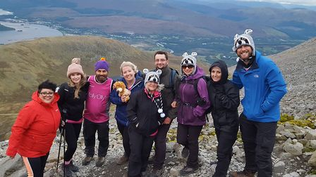A team of 11 fundraisers from Ipswich, including five nurses from Ipswich Hospital, completed the gr