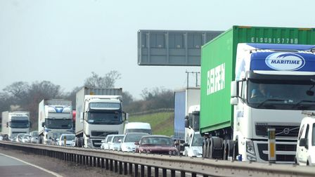 There were delays on the A12 near Capel after an accident. File picture: PHIL MORLEY