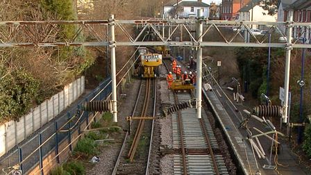 A trespasser on the track led to service delays (stock image). Picture: ARCHANT LIBRARY