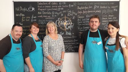 Leading Lives' Compass Cafe in Lowestoft scooped the Food and Catering award. Picture: SUFFOLK BROKE