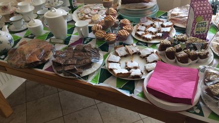 The afternoon tea event organised by Jane Cowie in Grundisburgh as a thank you for the care and supp