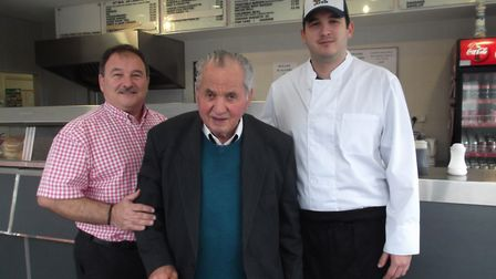 The three generations of the Mariani fish & chip business in Ipswich; Dario Mariani in his new shop
