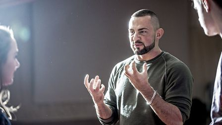 Robin Windsor at Inspire Suffolk teaching competition winners some dance steps. Picture: INSPIRE SUF