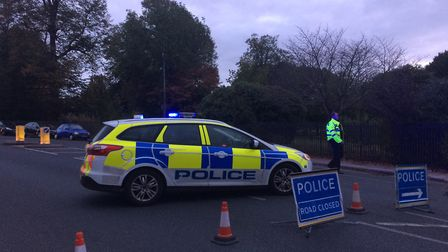 Police at the scene of an incident in Grove Lane, Ipswich. Picture: SARAH LUCY BROWN