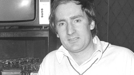 One happy punter at the pub in 1975