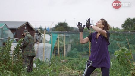 All the filming took place in the county - here is the People's Community garden in Ipswich