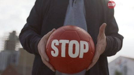 The football used in the Stoptober film