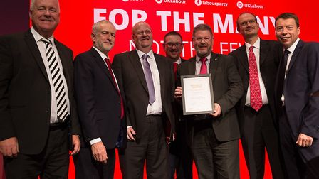 Ipswich Labour Party is presented with an award for its digital work during the election campaign. F