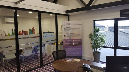 Inside the new JMS office at Brightwell Barns.