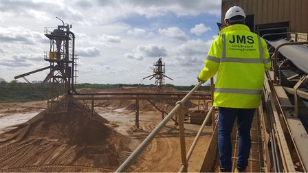 A JMS engineer on-site.
