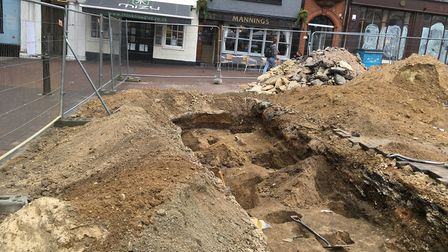 Excavation work on the Cornhill has been completed. Picture: PAUL GEATER