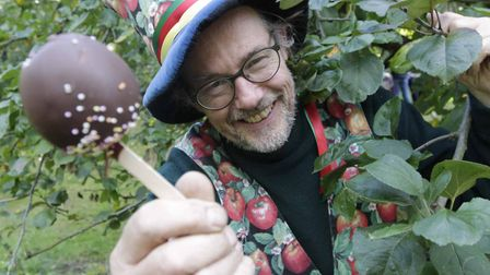 Lord Apple, Andy Smuk at the 2015 Holywells Park Apple Day. Picture: NIGEL BROWN