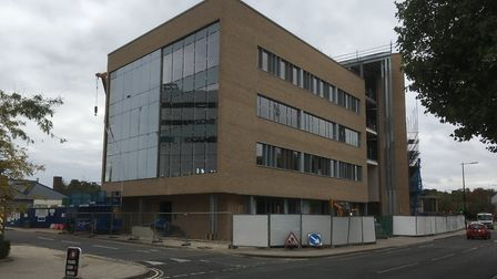 The new Birketts building taking shape in Princes Street, Ipswich. Picture: PAUL GEATER