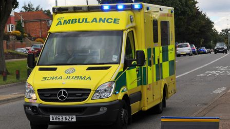 Ambulance crews were called to help. Stock picture: Steve Adams