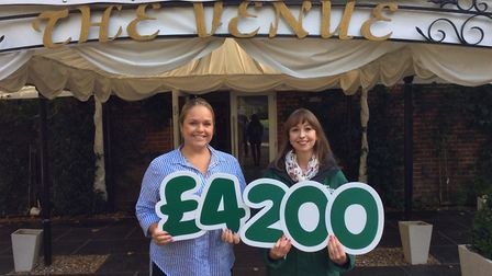 Event organiser, Danielle Watson, left, with local fundraising manager for Macmillan, Helen Taggart.