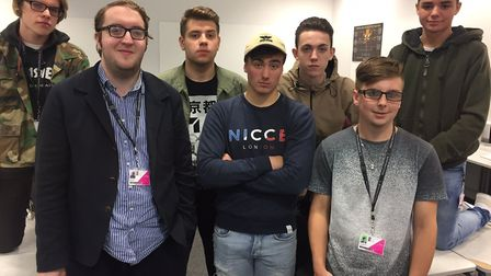 The film students from Suffolk New College. Picture: SUFFOLK NEW COLLEGE