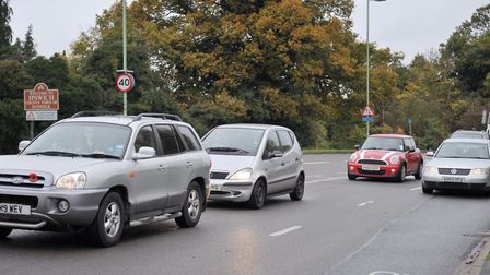The area near the Havens suffers regular congestion. This is Nacton Road near the Havens roundabout.