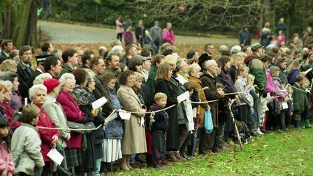 Crowds gathered to pay their repects at the Remembrance Day service at Christchurch Park in 1994