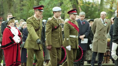 Remembrance Day service at Christchurch Park in 1994